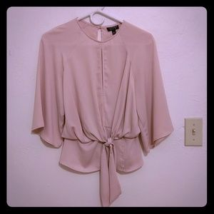 Top Shop slouchy knot front blouse
